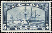 Canada Mint H VF Scott #204 5c 1933 Royal William Stamp