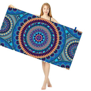 Microfiber Sand Free Beach Towels XL Swimming Pool Towel Fast Dry Soft Yoga Mat