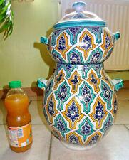 RARE COUSCOUSSIER poterie vernissé du Maroc nabeul maghreb no lamali, berbere
