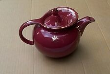 Hall China USA #0693  Windshield Teapot Rose & Gold Floral Trim 6 Cup Very Good