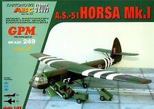 Card Model Kit – AS-51 Horsa Mk.1 Glider