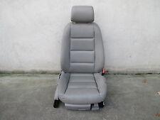 LEDER Beifahrersitz Sitz vorne Audi A4 B6 8E Sitze Ausstattung hellgrau PLATIN