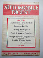 Vintage 1926 Automobile Digest - servicing Dodge, Model T Ford & Stutz articles