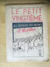 Tintin - Hergé - Le Petit Vingtieme du 3 decembre  1936 - N48 -TBE