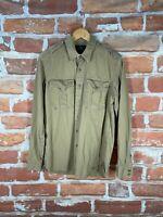 RRL Ralph Lauren M Military Khaki Officer Hunting Engineer Western Work Shirt