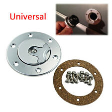 Universal 35.5mm Fuel Cell Gas Cap Flush Mount 6 Hole Anodized Billet CNC Silver