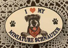 New ListingI Love My Miniature Schnauzer Wooden Magnet For Cocker Spaniel Rescue Charity