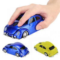 Fashion Car Shape 2.4GHz Wireless Gaming Mouse with Receiver for PC Laptop New