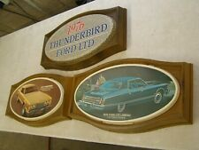 Oem Ford 1976 Thunderbird + Ltd Showroom Display Picture Set T-Bird