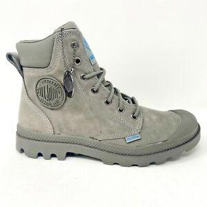 Palladium Pampa Cuff WP Lux Moss Gray Mens Size 7.5 Waterproof Boots 73231 009