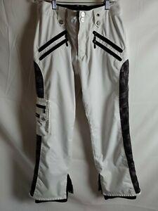 Body Glove Womens Ski Snowboard Snow Pants White Large Waterproof Insulated Sz M