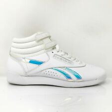Reebok Womens FS Hi Muted CN0182 White Running Shoes Lace Up Mid Top Size 7.5