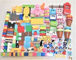 Big Lego Duplo lot 5.6 pounds Specialty- Cars Windows Minifigures Batman Mickey