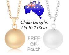 Angel Caller Harmony Chime Ball 20mm Pendant Necklace Silver Gold Baby Pregnancy