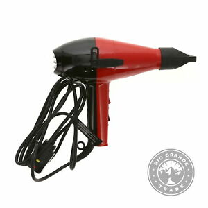 USED Elchim 220710011 Quick Dry Professional Salon Blow Dryer in Red / Black