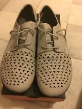 Merrell 9.5 Mimix Cheer Oxford Laser Cut Gray Lace Up Shoe Leather