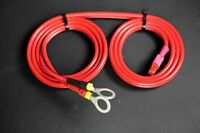 10 gauge - 6 foot adapter cable, Anderson Powerpole to Insulated Battery Rings