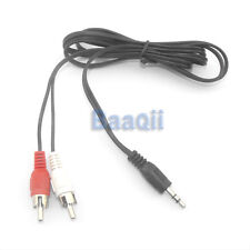 3.5mm Mono In Out Stereophonic to RCA R/L Y-Cable Audio M/M Cable 4 Speaker TW