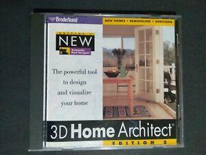 1996 PC. Broderbund Edition 2 New 3D Home Architect Windows 3.1 Windows 95