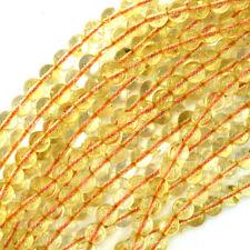 """Natural Yellow Citrine Round Beads Gemstone 15"""" Strand 4mm 6mm 8mm 10mm 12mm"""