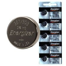 5 pcs Energizer 357 303 SR44W SR44SW SILVER OXIDE Batteries EPX76 A76 NEW 0%Hg