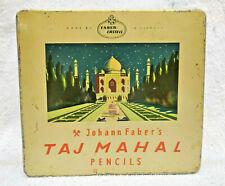 1930s Vintage Rare Johann Faber's Taj Mahal Pencil Advertising Litho Tin Germany