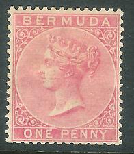 Bermuda 1883 dull-rose 1d crown CA mint  SG22
