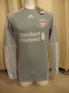 Liverpool Techfit Player Issue 10-12 Home Goalkeeper Shirt Adidas BNWT (S)