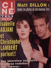 ▬► 1985 Ciné Revue 15 Adjani Lambert C.Zidi Romy Schneider Mat Dillon T.Moore