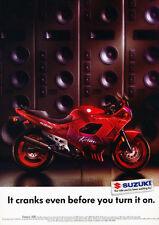 1992 Suzuki Katana 600 motorcycle -speaker  Classic Vintage Advertisement Ad H95