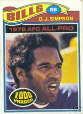 Topps 1977 O.J. Simpson AFC All Pro Football Card