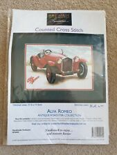 Alfa Romeo Antique Roadster Collection Counted Cross Stitch Kit HT0034