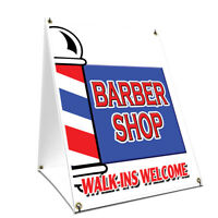 Decal Sticker Multiple Sizes Barber red White Business Person That cuts The Hair Outdoor Store Sign Red 40inx26in Set of 5