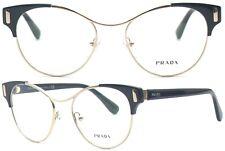 Prada Damen Brillenfassung PR61TV 1AB-1O1 52mm schwarz silber Vollrand 448 69