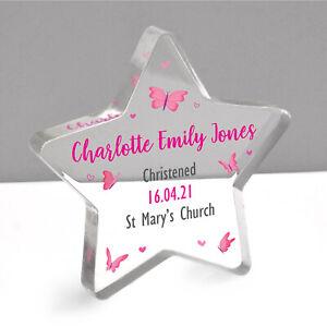 Personalised Christening Gift Girls Goddaughter Granddaughter Christening Star
