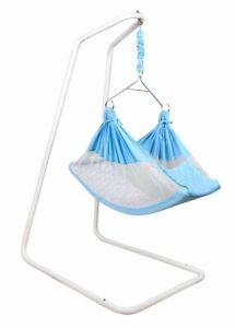 Baby Hammock-Pink with Stand, Spring Set and Mosquito Net. Baby Cradle for 0-3 Y