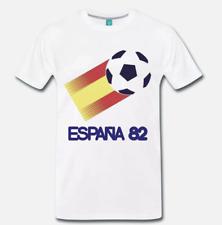 T-SHIRT MAGLIA MONDIALI DI CALCIO SPAGNA 1982 ESPANA 82 FOOTBALL -  S-M-L-XL