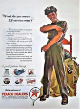"TEXACO GAS OIL ""WHAT DO YOU MEAN EX SERVICEMAN? DEALER ADVERT. 5x7 glossy PHOTO"
