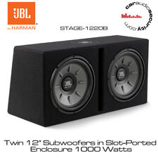 "JBL STAGE 1220B - Twin 12""  Subwoofer 1000W with Original JBL Enclosure Box"