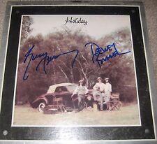 AMERICA SIGNED X2 HOLIDAY VINYL LP GERRY BECKLEY DEWEY BUNNELL TIN MAN