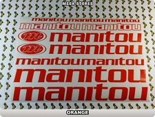 MANITOU Stickers Decals  Bicycles Bikes Cycles Frames Forks Mountain BMX 56LF