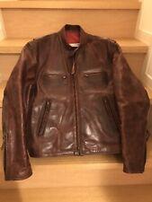 aero leather 34 horsehide FQHH single motorcycle jacket caferacer