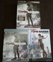 Tomb Raider PS3 + Tomb Raider: The Beginning Comic Book Box Set Tested CIB
