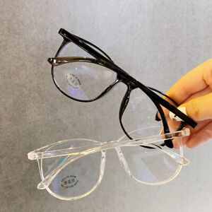 Transparent Computer Glasses Frame Women Men Anti Blue Light Round Eyewear