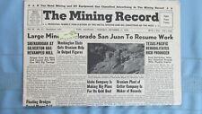 New listing 1958 Mining Record-Silverton Colorado Mill-Wyoming & Colorado Plateau Uranium
