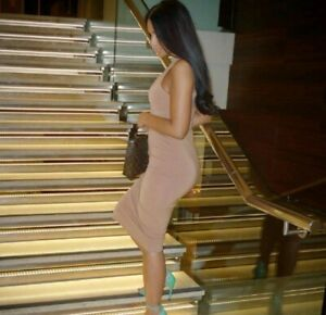 Almau Dusty Pink Dress Size UK 6 Anna Maria Masi xammasi Bodycon