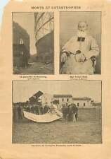 Gas holder gasometer Hamburg/ Mgr Petit Archevêque de Besançon 1909 ILLUSTRATION
