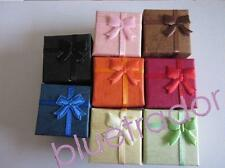 24 New Lots Wholesale Jewelry Ring Earring Small Gift Box 4*4*3CM MIX Colors