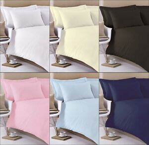 100% Egyptian Cotton Flat Sheets 200 Thread Count Single Double King Superking