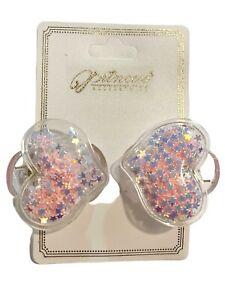 Kawaii Shaker Hair Clips Claw Clip HEART Shape Sequin Stars Fashion Accessories